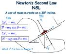 newton s second law nsl