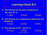 learning check b 5