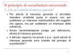il principio di sussidiariet orizzontale 1 che cos attivit di interesse generale