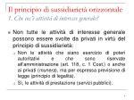 il principio di sussidiariet orizzontale 1 che cos attivit di interesse generale1