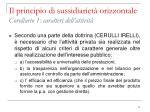 il principio di sussidiariet orizzontale corollario 1 caratteri dell attivit