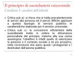 il principio di sussidiariet orizzontale corollario 1 caratteri dell attivit1