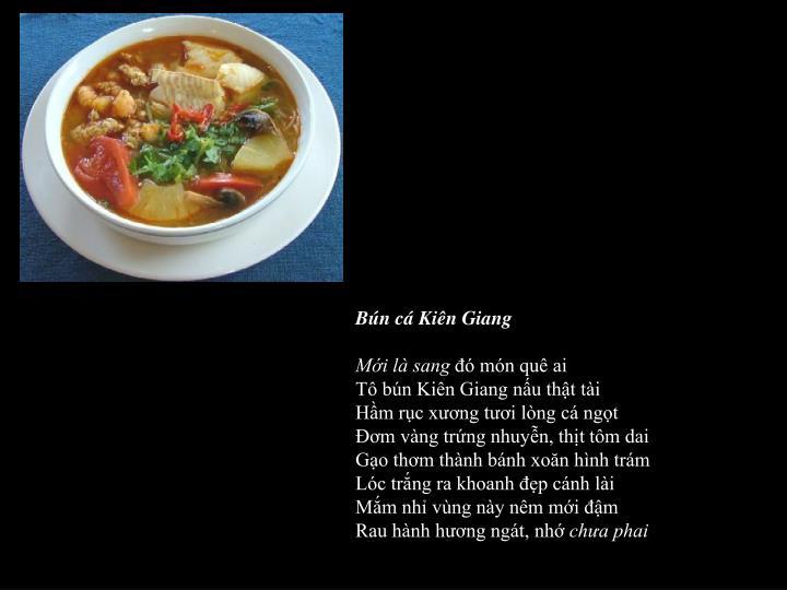 Bún cá Kiên Giang