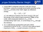 p type schottky barrier height