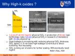 why high k oxides