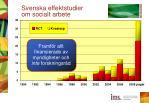 svenska effektstudier om socialt arbete
