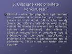 6 cilat jan k to prioritete konkuruese