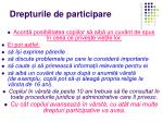 drepturile de participare
