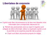 libertatea de expresie