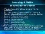 learning skills teacher tutor trainer