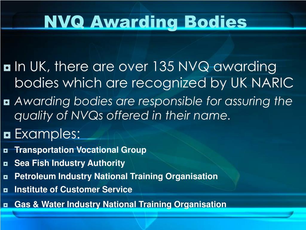 NVQ Awarding Bodies