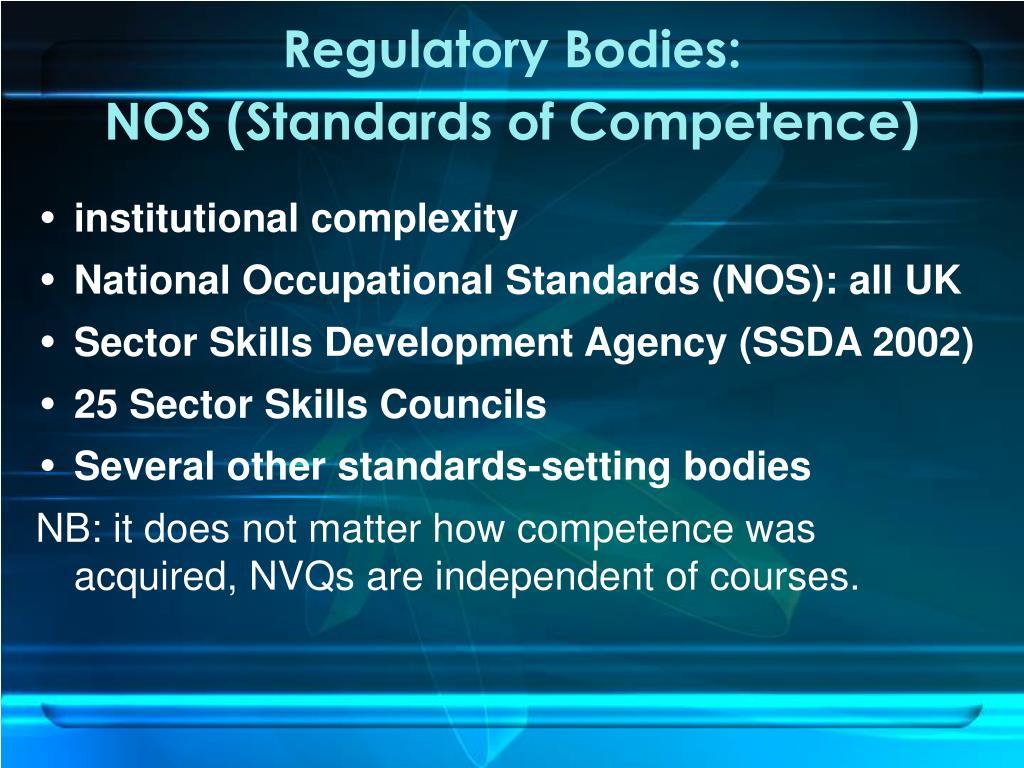 Regulatory Bodies: