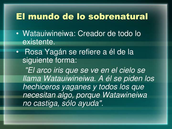 El mundo de lo sobrenatural
