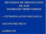 metodos de proyeccion de los ingresos tributarios1