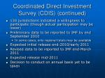 coordinated direct investment survey cdis continued