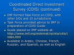 coordinated direct investment survey cdis continued12