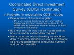 coordinated direct investment survey cdis continued14