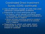 coordinated direct investment survey cdis continued16