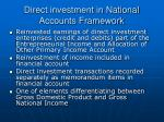direct investment in national accounts framework