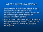 what is direct investment