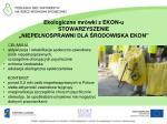 ekologiczne mr wki z ekon u stowarzyszenie niepe nosprawni dla rodowiska ekon