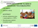 stowarzyszenie na rzecz rozwoju wsi soko owo