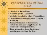 perspectives of the firm