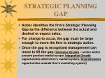 strategic planning gap