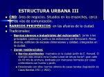 estructura urbana iii