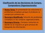 clasificaci n de las decisiones de compra compradores organizacionales