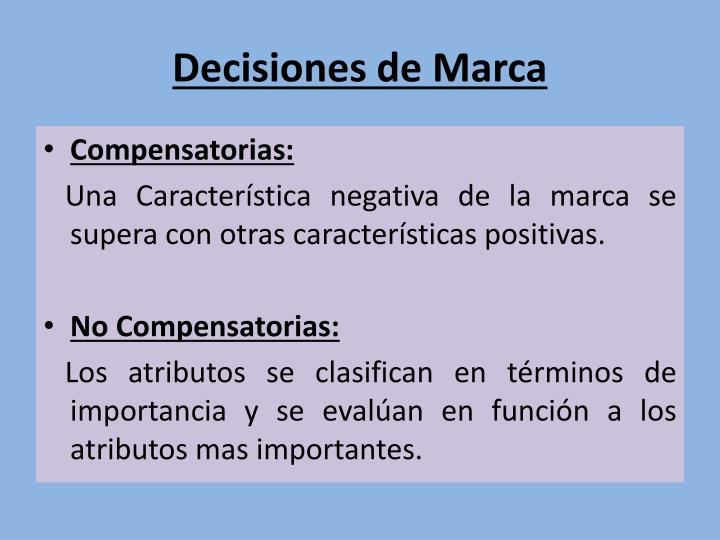 Decisiones de Marca