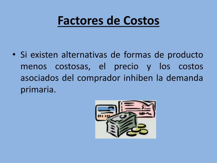 Factores de Costos