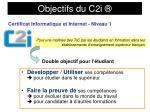 objectifs du c2i