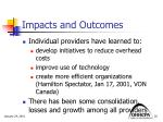 impacts and outcomes3