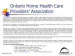 ontario home health care providers association