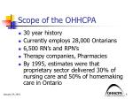 scope of the ohhcpa