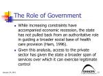 the role of government1