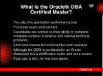 what is the oracle9 i dba certified master