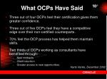 what ocps have said