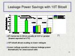leakage power savings with 10t bitcell