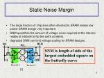 static noise margin