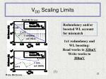 v dd scaling limits