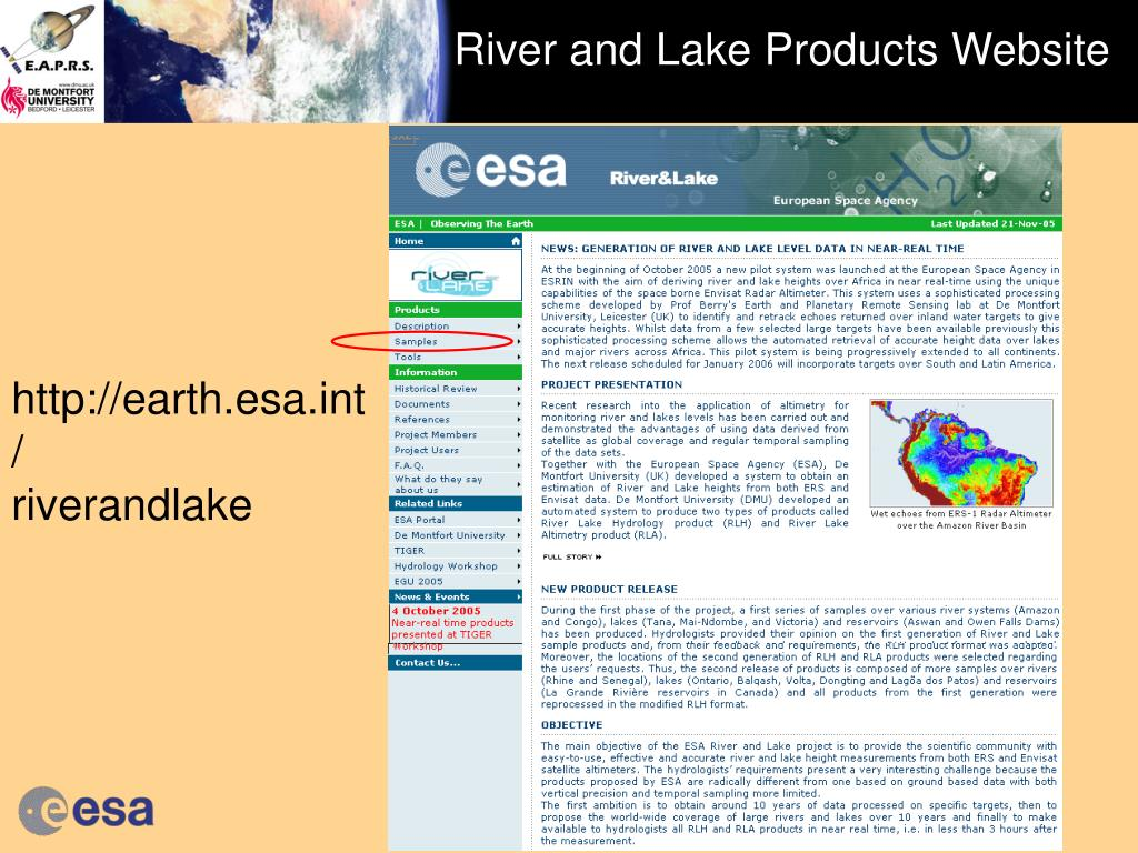 River and Lake Products Website