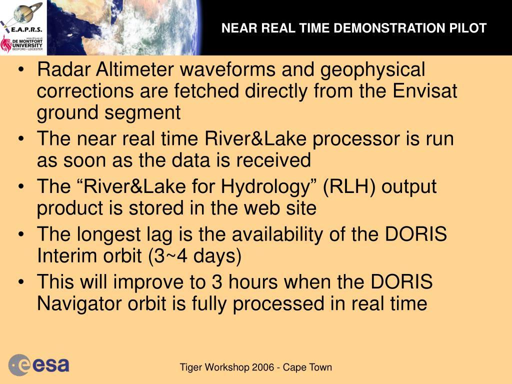 NEAR REAL TIME DEMONSTRATION PILOT