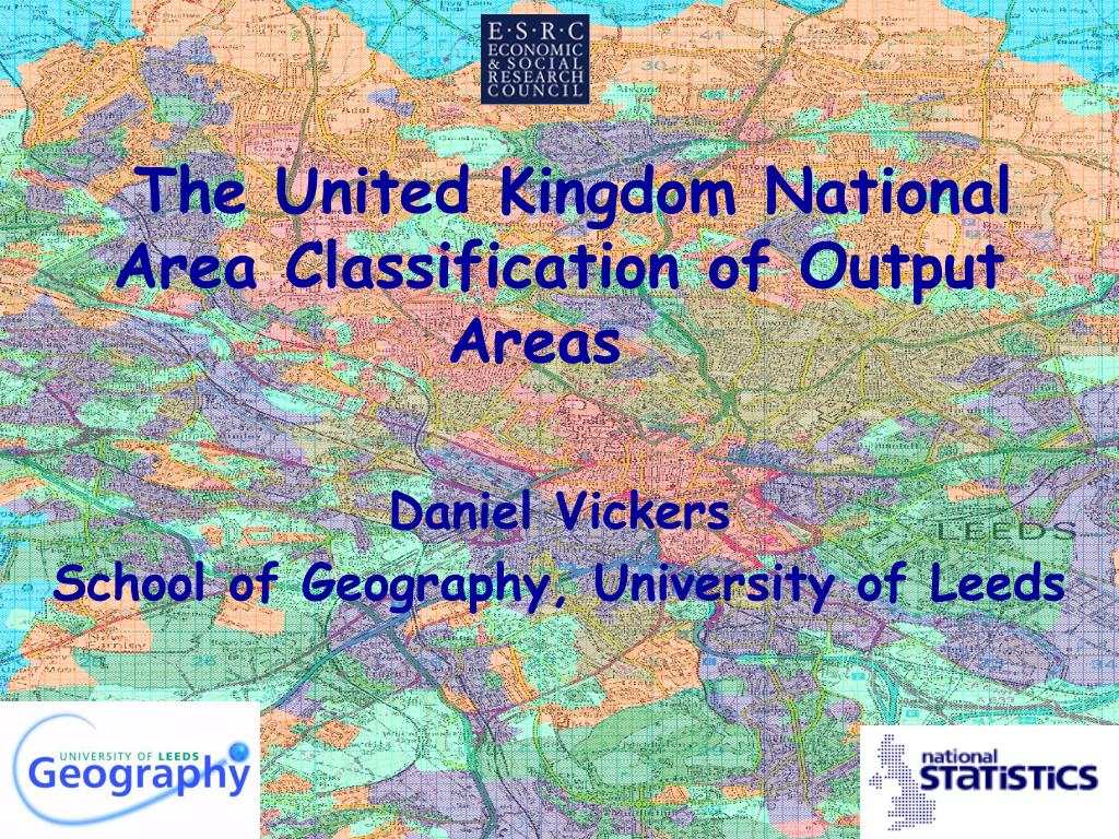 the united kingdom national area classification of output areas l.