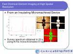 fast chemical element imaging at high spatial resolution