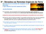 3 devastou as florestas tropicais da terra