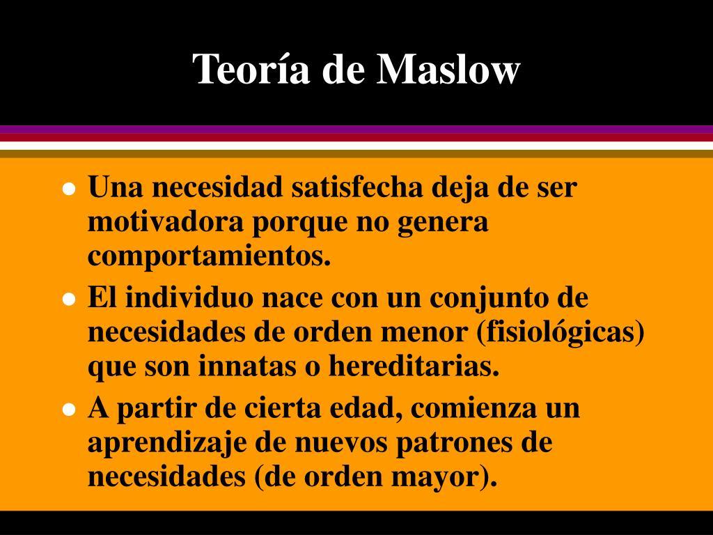 Ppt Teoría De Maslow Powerpoint Presentation Free