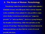 2 the scope of human parasitology