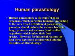 human parasitology